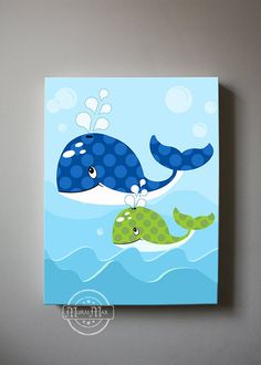 Anchor Baby Nursery Canvas Prints for any boys room. This is a 10 x 12 or selected Canvas Prints... The artwork printed to perfection for any little boys room, or nursery. This print is my original design. All canvas prints are sold signed. The image wraps around the sides of the wooden frame canvas, and is ready to hang. This design adds dimension, and interest from any viewing angle. Made with high quality printing materials, and a clear coated finish to last for life time. • NO FRAME is…
