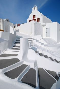 One of the most beautiful place in the world, Santorini Greece. An astonishing view from the land of the Greek Gods. Santorini Greece Beaches, Santorini Grecia, Santorini Island, Places To Travel, Places To Visit, Travel Destinations, Mediterranean Architecture, Greek Isles, Greece Islands