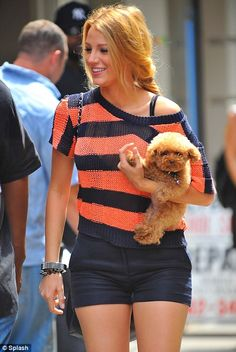 Blake Lively.. I want all of your clothes and your dog.. or i'll just take your life