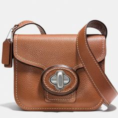 "3xHPCoach Drifter Bag, Pebbled Leather NWT Style Obsession (12/22), Wardrobe Refresh (12/26/15), Weekend Wardrobe (1/10/16) HPs  This gorgeous bag reinterprets the structured appearance of 70s bags with oversize clasps. Pebbled leather, shoulder strap adjustable up to 19.5"" to be worn on shoulder/crossbody, flap & tourniquet buckle, cotton lining, 1 zipped pocket, 2 patched pockets, & a key ring. See last pic for minor manufacturing defects. Includes tag (price removed by SA), dust bag…"