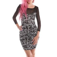 Iron Fist Women's Dont Cross Me Dress Ladies XS Black Iron Fist, To BUY or SEE just CLICK on AMAZON right here http://www.amazon.com/dp/B00JEIAKRM/ref=cm_sw_r_pi_dp_6cmutb195Y382GSM