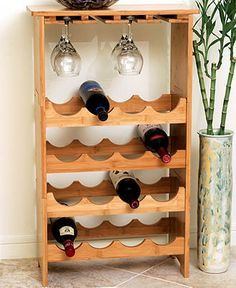 Lipper International Wine Rack, Bamboo Stemware Rack with 16 Bottle Storage - Bar & Wine Accessories - Dining & Entertaining - Macy's