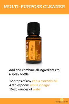 doTERRA Essential Oil DIY Multi-Purpose Cleaner Recipe