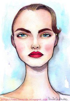 Camila Cerda Illustration- cara delevigne