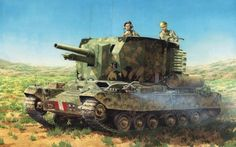 The Bishop was a British self-propelled artillery vehicle based on the Valentine tank and armed with the 25 pounder gun-howitzer, which could fire an mm in) kg lb) HE shell or an armour-piercing shell. Military Weapons, Military Art, Army Drawing, Self Propelled Artillery, Tank Armor, Armored Fighting Vehicle, World Of Tanks, Ww2 Tanks, Panzer