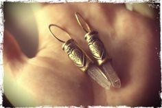 sacred heart: bullets, brass, vintage french hearts, quartz