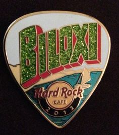 Hard Rock Cafe Biloxi Postcard Guitar Pick Series Pin LE100 | eBay
