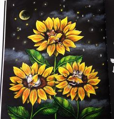 Sunflowers tutorial from #skymningstimman coloring book by @maria_trolle is upload on my YouTube ❤️ I was using @prismacolor premier pencils. #coloringbook #målarbok #sunflowers #prismacolorpencils #prismacolor #dkdesign #artistdkdesign #mariatrolle