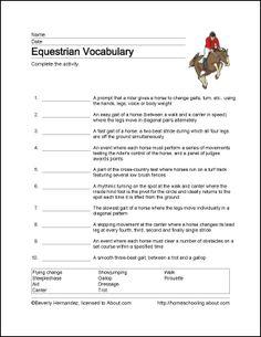 Equestrian Printables: Wordsearch