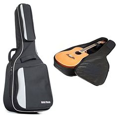 hola deluxe padded acoustic and classical guitar gig bag full size 41 inch black