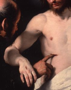 Bernardo Strozzi, The Incredulity of Saint Thomas (Detail), 1620 (via THE ART blog…)