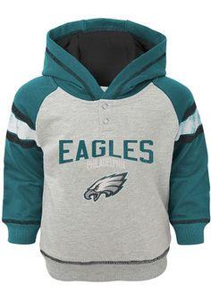 Philadelphia Eagles Toddler Grey Classic Stripe Hooded Sweatshirt