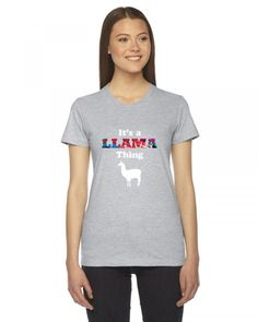 it's a llama thing funny Ladies Fitted T-Shirt