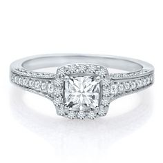 Helzberg Diamond Masterpiece® 1 ct. tw. Mondrian Diamond® Engagement Ring in 18K Gold, available at #HelzbergDiamonds