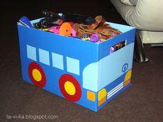 оформление коробки для хранения игрушек