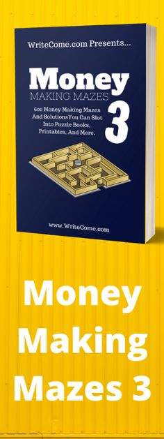 Want content for this hungry market? Here's 300 maze puzzles and their solutions that you can use for your next puzzle book, website content, or a hundred other things. Click the buy now button to start using this content today. In this package you get 300, and then 1000 (if you buy the upsell) maze puzzles and solutions that you can use anywhere. Maze Puzzles, Puzzle Books, Amazon Kindle, Self Publishing, Content, Money, Button, Website, Silver