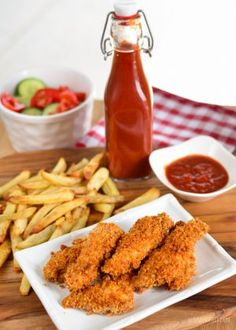 Slimming Eats Chicken Fingers - dairy free, Slimming World and Weight Watchers friendly