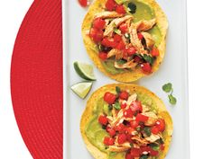 Smoked paprika gives these chicken tostadas rich, grill-like flavor with no cooking. Look for tostada shells (fried, flat corn tortillas)...