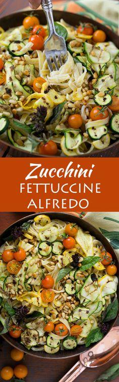 This zucchini fettuc