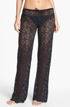 Becca Crochet Cover-Up Pants available at  Need these for Cabo!