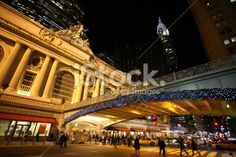 Grand Central Terminal, New York, at night Royalty Free Stock Photo