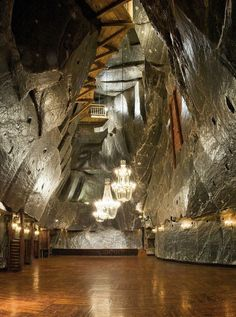 The Wieliczka Salt Mine, just outside of Krakow, Poland. It continuously produced table salt from the 13th century until 2007.                                                                                                                                                     More