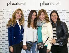Belinda Washington muy bien acompañada en la inaugración de la tienda Pilma Travel de Madrid