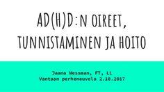 AD(H)D:n oireet, tunnistaminen ja hoito