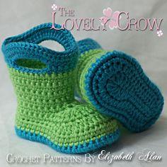 this pattern rocks!  Crochet Baby Galoshes.
