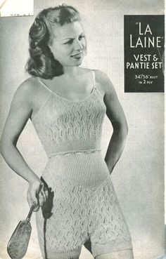 vintage underwear knitting pattern