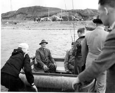 Franklin D. Roosevelt fishing at Kodiak Island, Alaska.