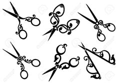 Set Of Retro Scissors Royalty Free Cliparts, Vectors, And Stock Illustration. Image 29462797.