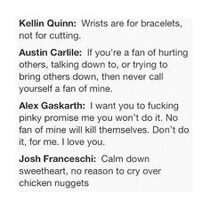 lauren's husband kellin quinn. ☮ ❤ liked on Polyvore featuring quotes, words, fillers, pictures, text, phrase and saying