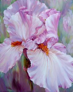 Proud Iris - Marianne Broome Watercolor Flowers, Watercolor Paintings, Original Paintings, Art Floral, Yellow Peonies, Iris Painting, Iris Garden, Flower Artwork, Iris Flowers