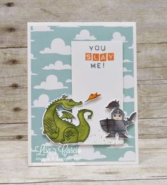 This fire breathing dragon is no match for this knight in shining armor. Magical Day and Magical Mates Framelits by Stampin' Up!. Alaska Achievers Blog Hop.