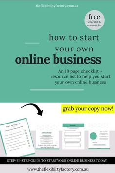 Are you a new entrepreneur or business owner? Looking for a step-by-step checklist on how to start an online business? Click through to grab this free printable to help you set up a new business. #howtostartabusiness #onlinebusiness #entrepreneurtips #bu Starting A Business, Business Planning, Business Tips, Online Business, Craft Business, Online Entrepreneur, Business Entrepreneur, Business Marketing, Entrepreneur Ideas