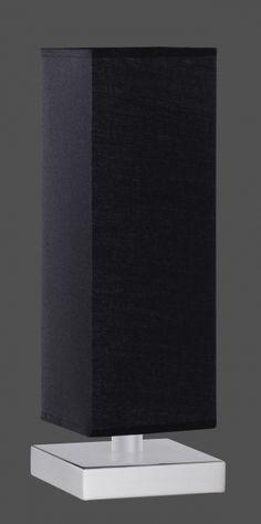 5914 - TRIO - dotyková stolová lampa - čierny textil