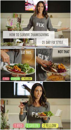 21 Day Fix Thanksgiving.