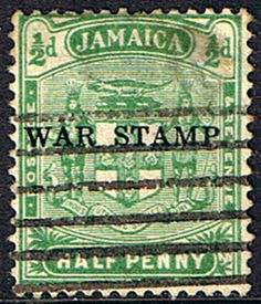 Jamaica 1916 War Tax Overprints SG 68 Fine Used SG 68 Scott MR1 Other British Commonwealth Stamps here