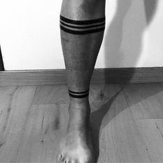 Male Cool Ankle Band Tattoo Ideas Solid Black Ink Lines