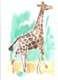 watercolours Watercolours, Giraffe, Animals, Collection, Art, Animales, Art Background, Animaux, Kunst