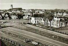 Gezicht op Stiens vanaf de boerderij van P.B.de Boer aan de Bredyk; cafe Koudenburg is nog aanwezig (afgebroken in 1968).
