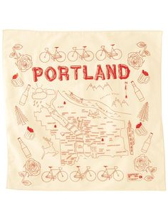 portland bandana from map tote. love the font.