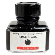 J. Herbin La Perle des Encres Fountain Pen Ink Bottled 30 ml Perle Noire