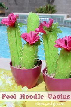 Pool Party Pool noodle cactus perfect for Summer party tables.Pool noodle cactus perfect for Summer party tables.Flamingo Pool Party Pool noodle cactus perfect for Summer party tables.Pool noodle cactus perfect for Summer party tables. Flamingo Party, Flamingo Pool, Flamingo Birthday, Mexican Fiesta Party, Fiesta Theme Party, Festa Party, Summer Party Themes, Fiesta Games, Mexican Fiesta Decorations