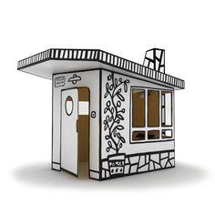 Die Villa ist das Kinderhaus im Elternhaus und - aus Karton gefertigt - robust genug, um dauerhaften Spielspaß zu versprühen – im Sommer (bei Trockenheit) auch im Garten. Schon der Aufbau verspricht eine kreative Herausforderung, denn mit den mitgelieferten Aufklebern kann das Haus nach eigenen Vorstellungen gestaltet werden. Anschließend ist es als Wohnraum, als Schlafbereich und für viele andere Ideen geeignet – den Kindern wird bestimmt etwas einfallen!