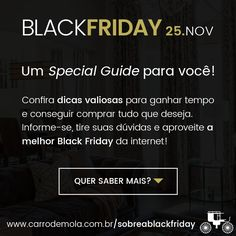 A Black Friday está chegando... você já se preparou? ;) ➤ https://www.carrodemola.com.br/sobreablackfriday