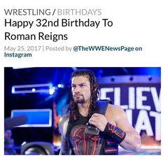 #RomanReigns #RomanEmpire #WWE Happy Birthday Joe, 32 Birthday, Roman Reigns, Roman Empire, Wwe, Wrestling, Photo And Video, Instagram, Lucha Libre