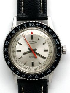 the first of its kind in the world! Vintage Watches For Men, Vintage Men, Favre Leuba, Black Opal, Men's Watches, Wristwatches, Omega Watch, Diving, Mens Fashion