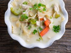 Easy Creamy Chicken Noodle Soup - Framed Cooks